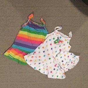 18M Carter's PolkaDot/Striped Dress Bundle